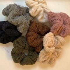 [7 color] 양털 뽀글이 털 곱창 머리끈 헤어슈슈