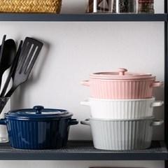 온나 뚜껑 세라믹 그라탕볼 오븐용 그릇