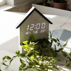 플라이토 우드 하우스 인테리어 LED 벽시계
