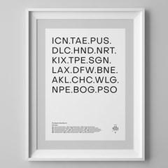 IATA 패브릭 포스터 (주문제작)
