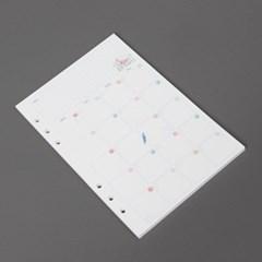 앵무새 6공 다이어리속지(A5)/ 월간 다이어리리필
