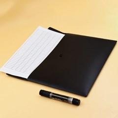 심플리 A4 똑딱이 파일 10p세트(블랙)