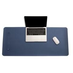 파스텔 휴대용 가죽 데스크 매트(블루) (80x40cm)