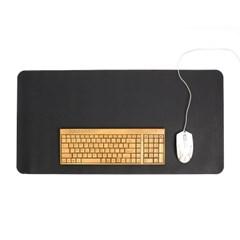 파스텔 휴대용 가죽 데스크 매트(블랙) (80x40cm)