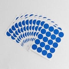20mm 컬러 원형 스티커 12매세트(블루)