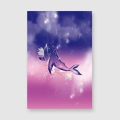 고래의꿈 엽서