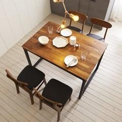 KUF 도나 4인 멀바우원목 식탁세트(의자)_(2103653)