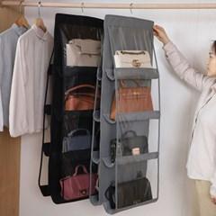 깔끔한 보관이 가능한 양면 가방 보관 걸이
