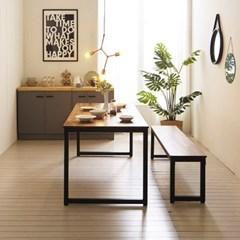KUF 도나 8인 멀바우원목 식탁+벤치1_(2103636)