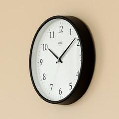 오리엔트 OTM898B 무소음 라운드엣지 인테리어벽시계' 블랙