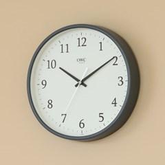 오리엔트 OTM898G 무소음 라운드엣지 인테리어벽시계' 그레이