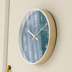 오리엔트 OTM901 샤이니골드 슬림메탈프레임 인테리어벽시계'