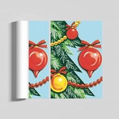 레트로 크리스마스 감성 일러스트 인테리어 A2 포스터