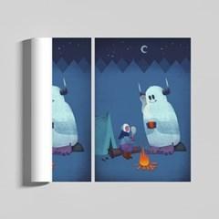 그 해 겨울 감성 일러스트 인테리어 A2 포스터 ver.1