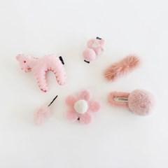 채니봉봉 핑크리스마스 헤어핀세트