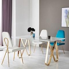 PAL_C_0211  인테리어 디자인 벨벳 스틸 골드 의자