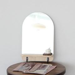 아치형 후크 선반 벽거울