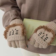 겨울 스마일 동물 손가락뚫린 귀여운 손가락 울 여자 장갑