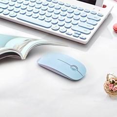 만렙 M101 휴대용 저소음 PC 노트북 사무용 슬림 미니 무선 마우스