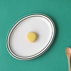 미쿡의아침밥 클래식 타원접시(그린)