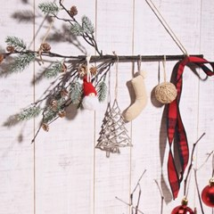 눈사람 크리스마스 가랜드 벽장식_(2107573)
