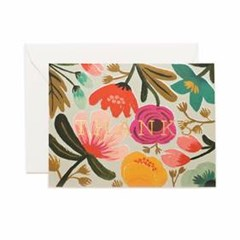 Gold Floral Thank You Card 감사 카드