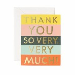 [Rifle Paper Co.] Color Block Thank You Card 감사 카_(410631)