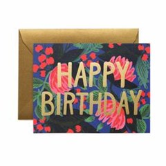 Floral Foil Birthday Card 생일 카드