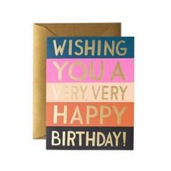 Color Block Birthday Card 생일 카드