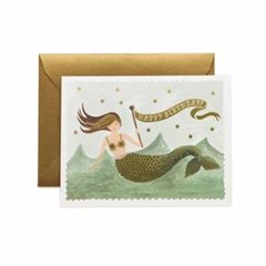 Vintage Mermaid Birthday Card 생일 카드