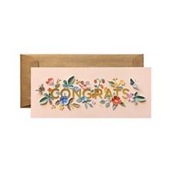 Cut Paper Congrats No.10 Card 축하 카드