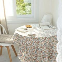 레트로 마리 플라워 면 식탁보 테이블보 덮개