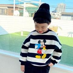 세) [디즈니정품]하트미키단가라 아동 양기모 맨투맨-주니어까지