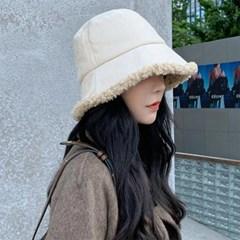 겨울 버킷햇 패션 방한 여자 털모자 뽀글이 벙거지