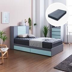 [세컨드컨테이너] 하이덴 서랍형 침대(SS) + 유로탑 매트리스