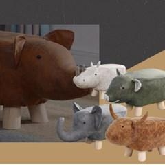 귀여운 디자인의 튼튼한 동물모양 인테리어 스툴