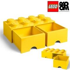 [레고스토리지] 레고 서랍형정리함8구-옐로우