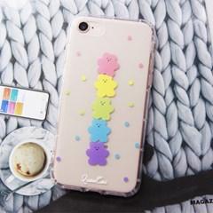 아이폰6+ 6S+ 땡땡이 곰돌이 곰젤리 투명 젤리 케이스