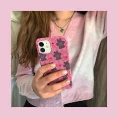 (텐바이텐단독) [뮤즈무드] pink argyle bear 아이폰케이스