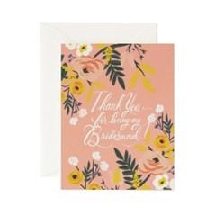 Thank You Bridesmaid Card 웨딩 카드
