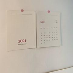 2021년 탁상용 이젤 미니 감성 달력 세트