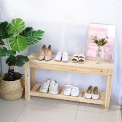 원목 거실선반 벤치형 신발정리대 일반형(삼나무)