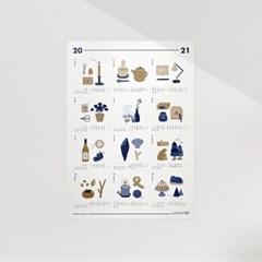 일러스트 2021년 캘린더 / A3 포스터 (연력)