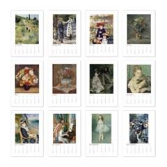 [2021 명화 캘린더] Pierre Auguste Renoir 르누아르 Type B