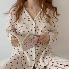 요루잠옷 예쁜 우정파자마 하트잠옷