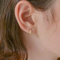 [한지현'수지'박은빈 착용]데일리 원버튼 후프 귀걸이