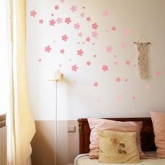 아름다운 봄날의 벚꽃잎 인테리어 스티커