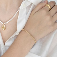 dotted line bangle (2colors)