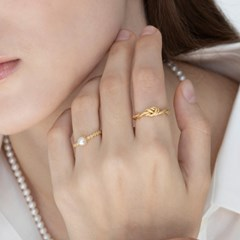 [SET] palace pearl ring 2set