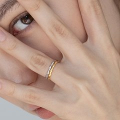 simple wave ring & eatcuff (2colors)
